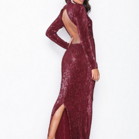 d4afea1ec0f3 70% NLY Eve Power Up Sequin Gown Pailletkjoler Burgundy